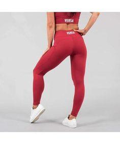 Versa Forma Motif 501 Leggings Crimson-Versa Forma-Gym Wear