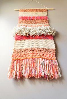 Modern Tapestry / Wall Hanging / Fringe Tapestry / by LemonCucullu