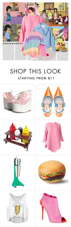 """Bobs Burgers (2011-present)"" by katieci ❤ liked on Polyvore featuring Edition, Miu Miu, Mr. Bar-B-Q, Valentino, Waring, Big Mouth and Alexander McQueen"