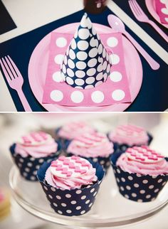Preppy Pancake & Pajama Party // Hostess with the Mostess® I love Pink and Navy together