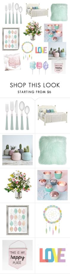 """""""Pastel home!!"""" by cheleniak ❤ liked on Polyvore featuring interior, interiors, interior design, home, home decor, interior decorating, Noritake, Tommy Bahama, Pillow Decor and Nearly Natural"""