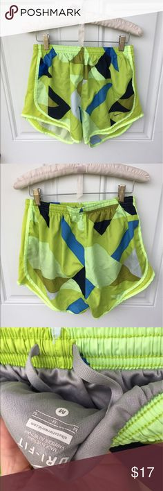 Nike running shorts Neon green tones with darker green, Nike running shorts. Worn once. Lined. Nike Shorts