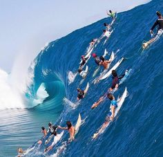 Surfers out grabbing some really big waves, just look at this wall of water...imagine the force. This takes a lot of courage and skill. Kitesurfing, Surf Girls, Marinha Wallpaper, Photo Surf, No Wave, Water Shoes For Kids, Soul Surfer, Surfer Surf, Surf Wave