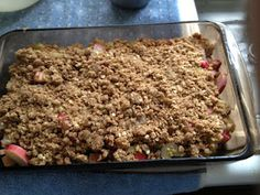 Ridiculously Good Rhubarb Crisp