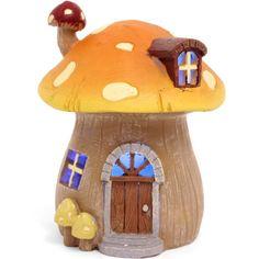MAGICAL LED MUSHROOM LIGHT SECRET FAIRY GARDEN COTTAGE-HOUSE ORNAMENT FAERIE
