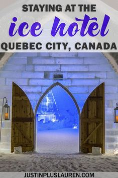 An insider's look at the ice hotel in Quebec, Hotel de Glace. Ice Hotel Quebec, Quebec City, Travel Guides, Travel Tips, Travel Advice, Travel Articles, Time Travel, Alberta Canada, Vancouver