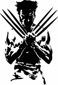 "Wolverine Wall Decor Vinyl Decal, Sticker in WHT 22"" by 32"""