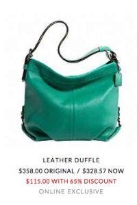 #coach #purse #green $115