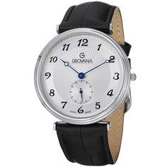 Grovana Men's Water-Resistant Silver Dial Strap Quartz Watch