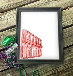 "Pat O'Brien's French Quarter | New Orleans | NOLA Canvas Paper Print 8x10"""