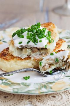 """Kartofelnye Zrazy"" - Potato Cutlets Stuffed with Mushrooms via Cooking Melangery"
