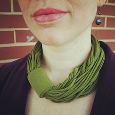 T-shirt scarf necklace from In Home Designs by Leslie Deil