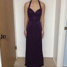 Purple Backless Prom Dress great condition, worn once. i accept ALL reasonable offers! :) WINDSOR Dresses Backless