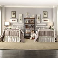 INSPIRE Q Giselle Antique White Graceful Lines Victorian Iron Metal Bed | Overstock™ Shopping - Great Deals on INSPIRE Q Beds