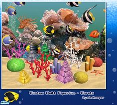 Decorative corals for custom built aquariums. Set also includes matching 4-panel mural. Found in TSR Category 'Objects'