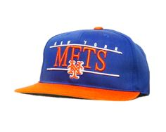 New York Mets American Needle Snapback Hat 2 Toned Blue/Orange
