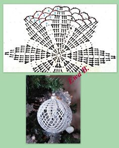 Best 12 Learn how to crochet these cute and extraordinary Christmas Baubles using the step by step tutorials in different languages. Christmas Tree Hooks, Crochet Christmas Ornaments, Crochet Snowflakes, Holiday Crochet, Christmas Baubles, Christmas Crafts, Crochet Ball, Thread Crochet, Crochet Motif