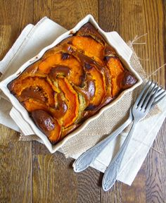 gateau salé butternut - endives - sarrasin