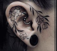 Halloween Face Makeup, Tattoos, Piercing Ideas, People