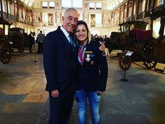 No Museu dos Coches em Lisboa, Telma Monteiro foi condecorada pelo Presidente da República Cavaco Silva.