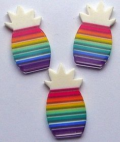 Vintage 60s Rainbow Lucite Findings Pineapples by ladykjewels, $3.50