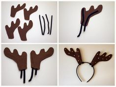 Pink Stripey Socks: DIY Reindeer Antler Headbands