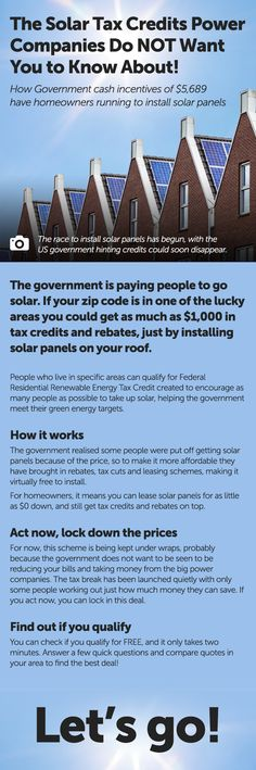 Solar Tax Credit can save you $1000s on your electric bill, and - free residential lease