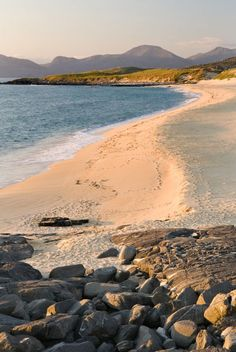 size: Photographic Print: Sunset on Borve Beach, Isle of Harris Poster by Nadia Isakova : Subjects England And Scotland, Scotland Uk, Highlands Scotland, Isle Of Harris, Outer Hebrides, Scottish Islands, Scotland Travel, British Isles, Ibiza