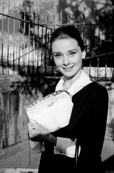 Audrey Hepburn shows the cable announcing that she has been named Best Actress of 1959 by the American critics of Film Daily for her performance in The Nun's Story, Rome, 1959.