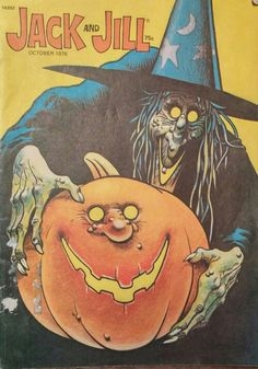 Vintage, Jack and Jill Halloween magazine for children - October 1976