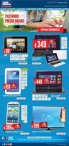 Newsletter - Password: Preços baixos!  http://www.radiopopular.pt/newsletter/2014/17/
