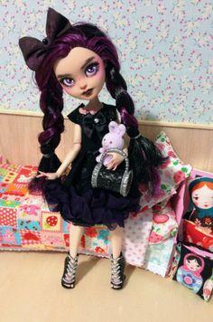 meet Em raven queen ever after high custom by TheSleepyForest, $90.00