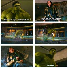 "The Avengers - ""puny god"" favorite part of the movie by far!!!"
