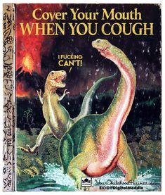 Vintage Children's Book Dinosaurs Little Golden Book Jane Werner Watson by misseileen on Etsy Funny Shit, Hilarious, Funny Stuff, Jurrassic Park, Dankest Memes, Funny Memes, Funny Tweets, Up Book, Book Nerd