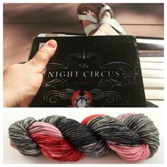 4 available ~These skeins were inspired by the book, The Night Circus. Each tent is black