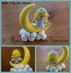 polymer clay angel | Angel and Moon Figurine (Polymer Clay) by ~Sprup on deviantART