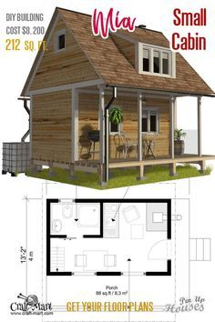 Cabin Plans With Loft Bedroom Mia Cabin Plans With Loft Small