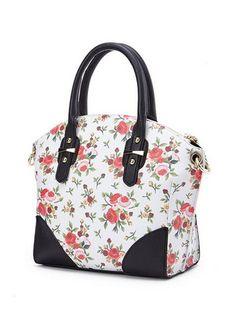Studs Floral Design Versatile Fashion Handbag
