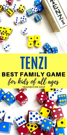 Tenzi is one of those fun games that works for almost all ages which is why it's one of our top recommendations (ultimate) family night games. Educational Games For Kids, Fun Activities For Kids, Family Activities, Crafts For Kids, Educational Websites, Indoor Activities, Summer Fun List, Summer Kids, Family Games For Kids