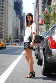clasicco Blanco y negro en shorts