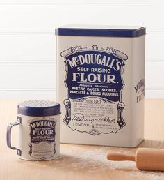 Retro Mc Dougalls Flour Storage Tin Or Shaker from notonthehighstreet.com