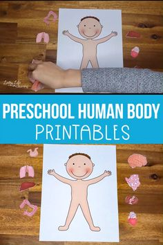 Preschool Human Body Printables Want to learn about the human body but don't know where to start? Get these preschool human body printables to teach your kids about their bodies. Learn about the different organs and where they belong. Human Body Activities, Preschool Learning Activities, Homeschool Kindergarten, Preschool Science, Toddler Activities, Preschool Activities, Kids Learning, Online Homeschooling, Preschool Printables
