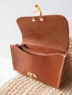 Personalized Wallet / Purse - Leather - Hand Stitched by harlex