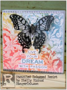 MILLSREPCO BLOG: Stenciled Embossed Resist by Shelly Hickock