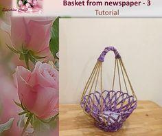 D.I.Y - Basket from newspaper 3 - Tutorial  https://www.youtube.com/watch?v=wcqg8HYMzPU
