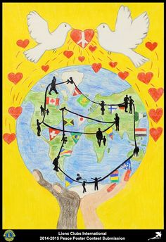 2014-15 Lions Clubs International Peace Poster Competition submission from Val Mustair Lions Club in Switzerland