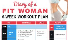 Diary of a Fit Woman 6-Week Workout Calendar - Skinny Ms.