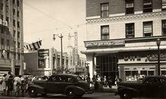 Hollywood and Vine around 1947. (Bizarre Los Angeles)