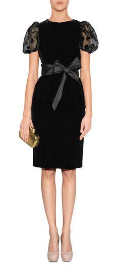 Black Belted Valentino Dress