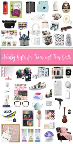Best Gifts for Tween and Teen Girls - gifts the teen girls in your life are going to want to open. No eye rolls in sight. Best Gifts for Tween and Teen Girls - gifts the teen girls in your life are going to want to open. No eye rolls in sight. Cool Gifts For Teens, Christmas Gifts For Teen Girls, Tween Girl Gifts, Birthday Gifts For Teens, Mom Birthday Gift, Gifts For Tweens, Teen Girl Birthday, Holiday Gifts, Best Teen Gifts